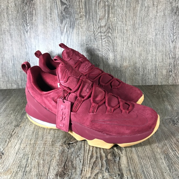 outlet store 77559 acf0b New LeBron 13 Low Team Red Gum Men s Size 11